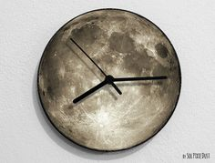 Grey Moon Moon Wall Clock by SolPixieDust on Etsy