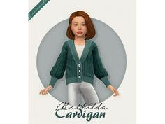 Mathilda Cardigan - Kids Version - The Sims 4 Download - SimsDomination Sims 4 Toddler Clothes, Sims 4 Cc Kids Clothing, Sims 4 Mods Clothes, Sims 4 Cc Packs, Sims 4 Mm Cc, Sims Four, Maxis, Sims 4 Children, Sims 4 Dresses