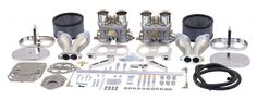 DUAL 44 HPMX EMPI CARB KIT Dune Buggy VW Baja Bug      New EMPI Carburetor     Dual 44 HPMX 2-BBL High Performance EK319     Includes Intake Manifolds and Linkage     Includes Air Filters