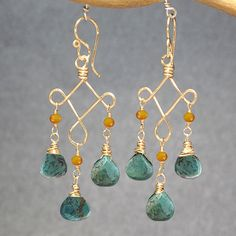 Carnelian and turquoise hammered earrings Gypsy 13