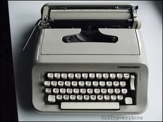 Vintage Grey Manual Typewriter PRIVILEG 350. by OldTypewriters