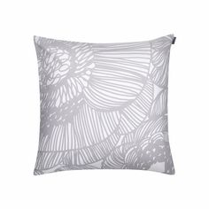 Kurjenpolvi #cushion cover by Marimekko is a design that captures the exuberance of flowers. It comes in 50x50 cm. and is made in 100% cotton. Optionally, you can add the feather filling.