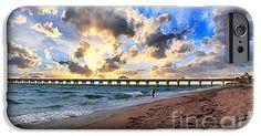 Juno Beach Pier Florida Sunrise Seascape D7 iPhone 6 Case by Ricardos Creations.  Protect your iPhone 6 with an impact-resistant, slim-profile, hard-shell case.  The image is printed directly onto the case and wrapped around the edges for a beautiful presentation.  Simply snap the case onto your iPhone 6 for instant protection and direct access to all of the phones features!