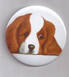 Mirror dog Spaniel Christmas gift idea cosmetic by Artjimbo
