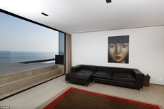 The four-bedroom, modern beachfront penthouse where Alessandra stayed costs£1,722 a night