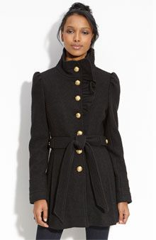 high neck military jacket. great buttons. only $129 at upcoming #nordstrom anniversary sale. Is July too early to buy a winter coat?