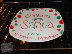 """Make a DIY """"Cookies For Santa"""" Plate"""