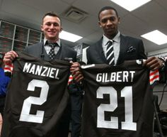 Johnny Manziel and Justin Gilbert. Welcome to Cleveland!