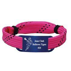 Personalized Lacrosse Shooting String Bracelet Girl Player Adjustable Shooter Bracelet - Pink