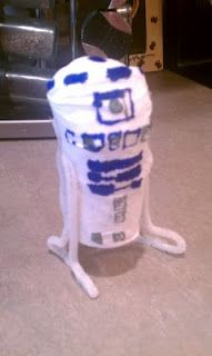 R2D2 toilet paper roll craft.