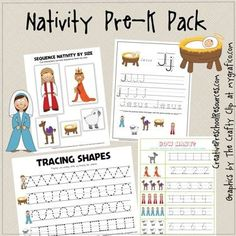 Free Pre-K Nativity Pack - Printable  This is great! I ordered the whole pack; perfect for our 4yo.