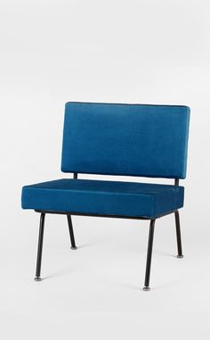 Florence Knoll; Enameled Metal Easy Chair for Knoll, c1954.