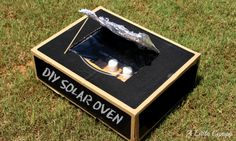 DIY Solar Oven camping science project for kids