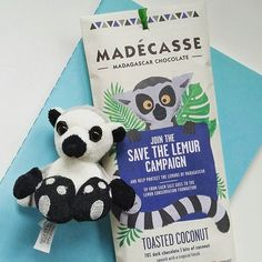 So my new favourite chocolate also helps saves lemurs and has four times the effect of fair trade cocoa to communities in Madagascar. (The packaging is pretty neat too!)  @madecasse @lemur.conservation.foundation #chocolate #coconut #darkchocolate #madecasse #madagascar #cocoa #savethelemurs #lemur #africa #lemurconservationfoundation #conservation #ethical #vegan #whatveganseat #sainsburys #veganism #veganchocolate #ilovechocolate #animallovers #ringtailedlemur #wildlifeconservation