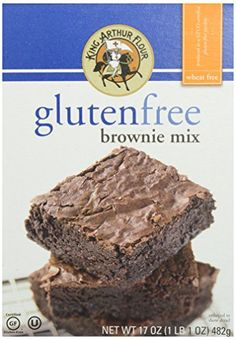 Enjoy rich, decadent brownies without having to worry about gluten with King Arthur Flour Gluten Free Brownie Mix. King Arthur Flour mixes a collection of wheat and gluten free ingredients to make a brownie mix that your entire family will love! Beste Brownies, Fudge Brownies, Best Brownie Mix, Gluten Free Graham Crackers, The Joy Of Baking, Healthy Groceries, King Arthur Flour, Foods With Gluten, Gluten Free Baking
