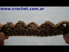Puntilla Nº 2 en tejido crochet tutorial paso a paso. - YouTube