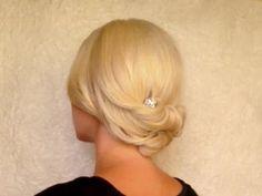 wedding shoulder length hair up-do   Updo hairstyle for medium short shoulder length hair Rolled hair ...