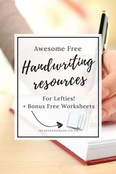 improve handwriting for left handed adults
