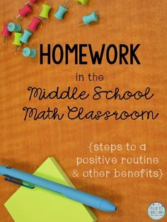 Homework in the middle school math classroom is a positive thing when executed correctly! Click to read some pro-homework tips and get real advice for giving homework to your teen math students. #homework #middleschool