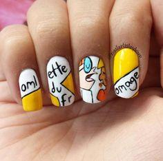 Dexter nail art - Imgur