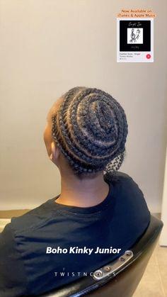 Braided Cornrow Hairstyles, Black Girl Braided Hairstyles, Braided Hairstyles Tutorials, African Braids Hairstyles, African Hair Braiding, Cornrows, Curly Crochet Hair Styles, Curly Hair Styles, Natural Hair Styles