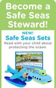 Green Toys® Safe Seas Setsl BPA free, recycled plastic