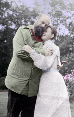 Tsar Alexander III with his niece Marie of Greece (It's a nice photo of Alexander which shows his gentler side)