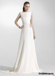 Простое свадебное платье для росписи