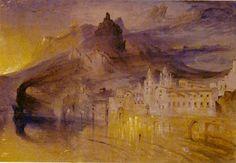 john ruskin drawings | John Ruskin, Amalfi . Watercolor on paper. Source: Library Edition.