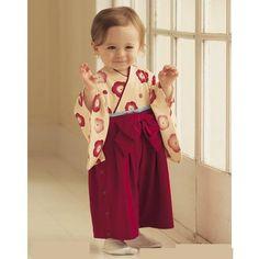 Toddler wearing kimono