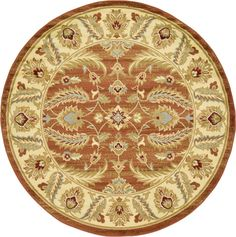 Agra Brick Red Area Rug