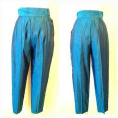 Vintage Blue Pants Cigarette Pant Vintage Skinny by RackedVintage