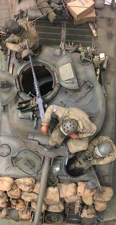 Sherman tank and crew
