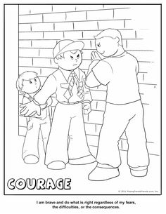 Cub Scout Courage Coloring Page  other pages at http://www.makingfriends.com/color/cub_scout_coloring_pages.htm