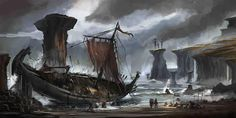 Wrecked viking ship #vikings #drakkar #norse #scandinavia #denmark #norway #sweden