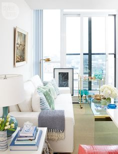 Condo tour: Tropical-glam bachelorette pad - Style At Home