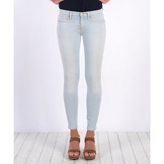 Henry & Belle Sun Bleached Super Skinny Ankle Jeans ($90) ❤ liked on Polyvore featuring jeans, skinny ankle jeans, short pants, stretch skinny jeans, skinny leg jeans and bleached jeans