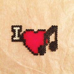 I Love Music hama beads by meirhama