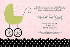 Baby Buggy Baby Shower Invitation BOY OR by SweetBeeDesignShoppe