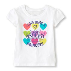 I'm a princess graphic tee Baby Girl Shirts, Baby Girl Tops, My Baby Girl, Girls Tees, Shirts For Girls, Toddler Outfits, Kids Outfits, Junior Girls Clothing, Shirt Print Design