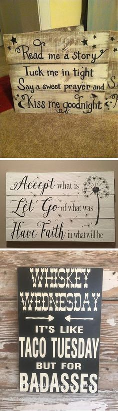 Wall Art Canvas Quotes Pallet Signs 43 Ideas For 2019 Wood Pallet Signs, Wood Pallets, Wooden Signs, Canvas Wall Art Quotes, Wall Quotes, Palette, Simple Pictures, Family Pictures, Diy Pallet Projects