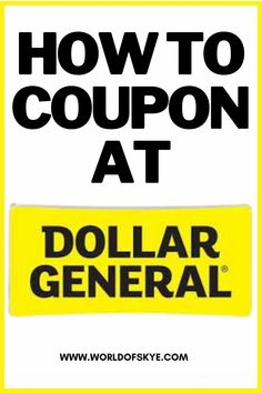 Calling all my Dollar General shoppers! Use your Dollar General coupons. We're talking Dollar General couponing and how to save money at Dollar General. Penny sales at Dollar General are not the only way to save, there are some Dollar General Saturday scenarios that are good too! Dollar General couponing tips will help you with your overall Dollar General savings. Whether you're looking to save money on dollar general diy or Dollar General meals, these Dollar General couponing scenarios can
