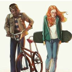 Stranger Things - Lucas and Mad Max, Caleb McLaughlin and Sadie Sink Fremde Dinge - Lucas und Mad Max, Caleb McLaughlin und Sadie Sink Stranger Things Tumblr, Lucas Stranger Things, Stranger Things Quote, Stranger Things Aesthetic, Stranger Things Season 3, Stranger Things Netflix, Mad Max, Millie Bobby Brown, Stranger Danger