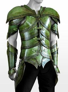 Elf Leather Armor leaf green Handcrafted, genuine leather LARP armor Like film Epic Costume Carnaval, Hallowen Costume, Halloween, Elf Costume, Fantasy Armor, Medieval Fantasy, Fantasy Costumes, Cosplay Costumes, Epic Cosplay