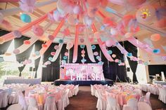 8 Kiddie Party Venue in Manila for your Kid's Big Bash Debut Ideas, Princess Theme, Party Venues, Garden Theme, Ceiling Decor, Pink Butterfly, Candyland, Party Themes, Party Ideas