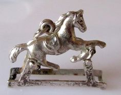 Silver Moving Horse Charm or Pendant by TrueVintageCharms on Etsy