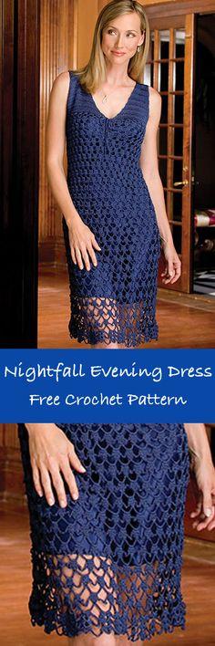 Evening Dress #crochet #freepattern #summer