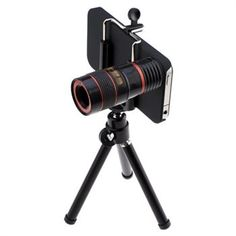 8X Optical Zoom Telescope Camera Lens For Apple iPhone 4s (Case Cover and Camera Stand Included) - #Buycom