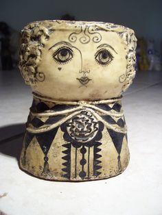 Gemma Taccogna doll head vase