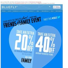 Bluefly - Extra 20-40% off EVERYTHING